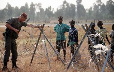 concertinas en Rwanda