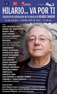 cartel homenaje a hilario camacho teatro lope de vega 2006
